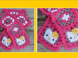 Hello Kitty crocheted scarf | the crochet space