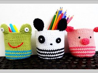 crocheted animal baskets | the crochet space
