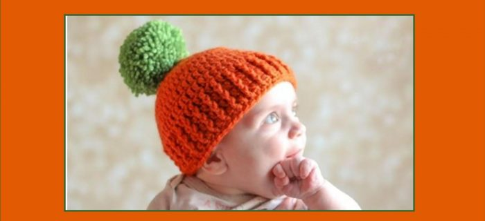Pumpkin Parker crocheted hat | the crochet space