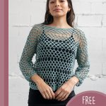 Airy Summer Crochet Top. Similar to a net top, crafted in a blue/grey    thecrochetspace.com