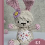 Amigurumi Loved Happy Bunny. Bunny with fabric heart on chest || thecrochetspace.com