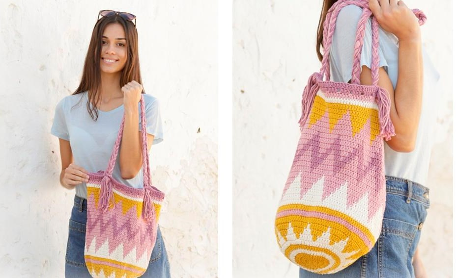 Andes Sunrise Crochet Bag | thecrochetspace.com