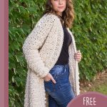 Angelic Long Crochet Jacket. Hand in Jeans pockets, pulling the jacket to the side || thecrochetspace.com