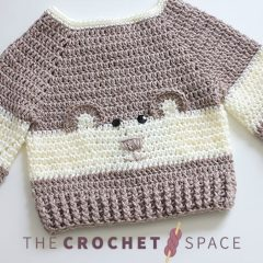 Baby Bear Crochet Sweater || thecrochetspace.com