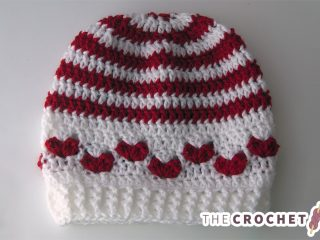 Baby Mine Crocheted Hat With Hearts || thecrochetspace.com
