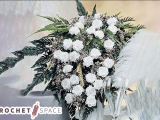Beautiful Crochet Bridal Bouquet # thecrochetspace.com