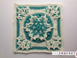 Blizzard Warning Crocheted Afghan Block || thecrochetspace.com