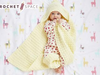 Bloomfield Baby Blanket Hoodie || thecrochetspace.com