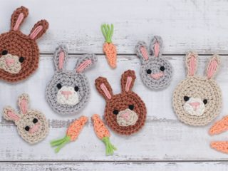 Bunny Face Crochet Applique || thecrochetspace.com