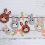 Bunny Face Crochet Applique In 3 Different Sizes With An Applique Carrot || thecrochetspace.com