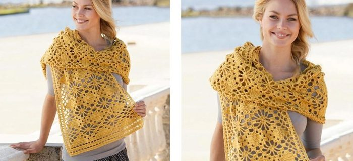 Butterfly Migration Crochet Wrap | thecrochetspace.com