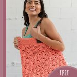 C-Cide Crochet Mega Tote. Large shoulder bag crafted in a peach yarn    thecrochetspace.com