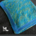 Camden Crochet Baby Blanket. Crafted in green and blue || thecrochetspace.com
