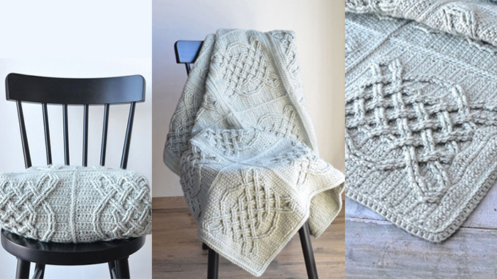 Celtic Tiles Crochet Blanket || thecrochetspace.com