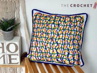 Chaos Reigns Crochet Pillow || thecrochetspace.com