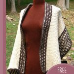 Chic Fisher's Crochet Wrap. Cream and brown wrap with beautiful accent edging || thecrochetspace.com