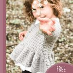 Childs Fluted smock jacket. Little girl in smock jacket || thecrochetspace.com