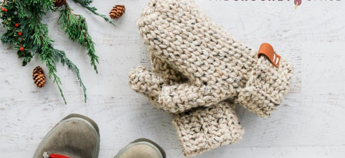 180 Minutes Crochet Mittens || thecrochetspace.com