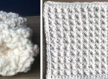 Crazy Cobble Stitch Crochet Dishcloth | thecrochetspace.com