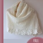 Crochet Bridal Flower Shawl. Crafted in ivory and on a hanger    thecrochetspace.com