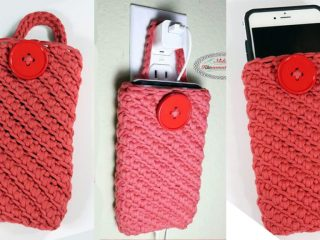 Crochet Cell Phone Pouch || thecrochetspace.com