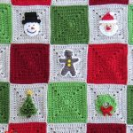 Crochet Christmas Granny Blanket . Focus on 9 different squares with different applique || thecrochetspace.com