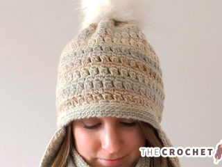 Crochet Clustered Earflaps Hat || The Crochet Space
