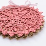Crochet Fall Coasters Set. Set tied together with a lavender ribbon || thecrochetspace.com