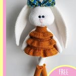 Crochet Frida Fashionista Bunny. Easter bunny in Sunday best dress and matching boots || thecrochetspace.com
