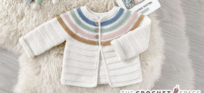 Crochet Ginger-lily Baby Jacket|| thecrochetspace.com