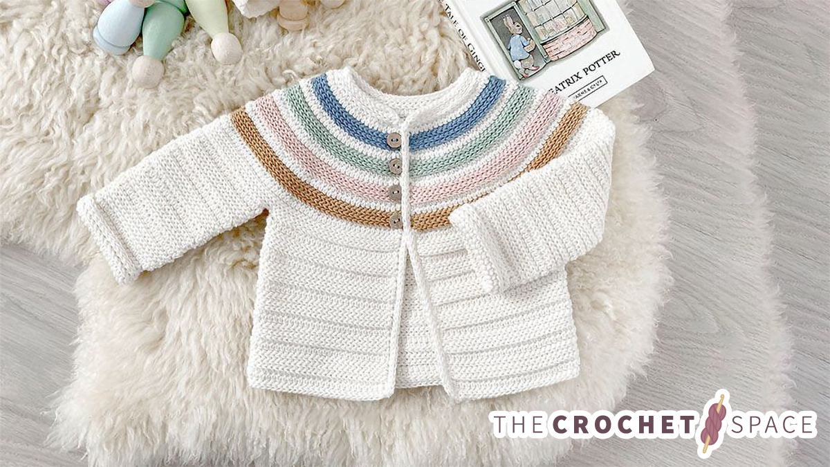 Crochet Ginger-lily Baby Jacket   thecrochetspace.com
