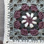 Crochet Lily Pad Granny Square. Close up of part of square    thecrochetspace.com