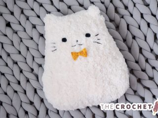 Crochet Plush Pussy Pillow || thecrochetspace.com