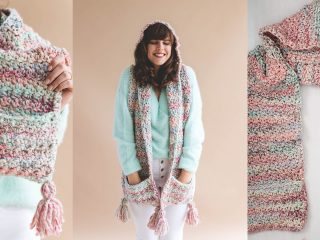 Crochet Storybook Hooded Scarf | thecrochetspace.com