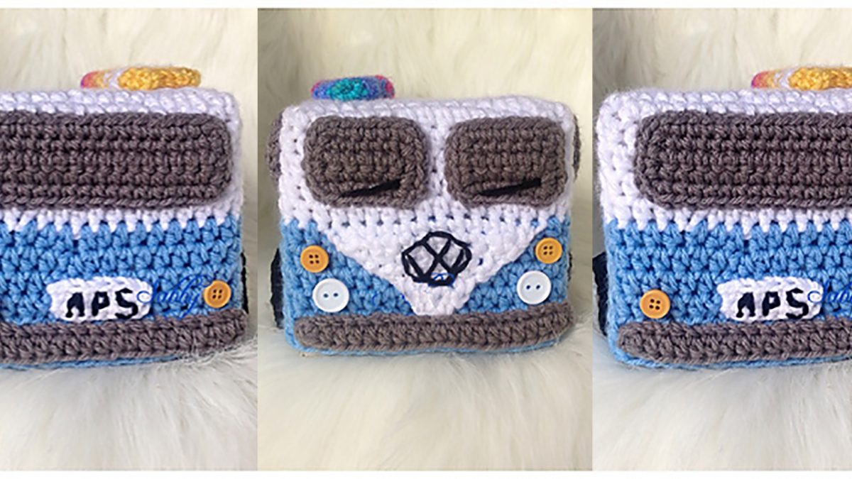 Crochet Tissue Box Cover || thecrochetspace.com