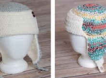 Crocheted Trapper Ted Hat | thecrochetspace.com