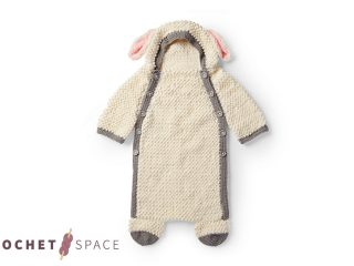 Crochet Baby Sheep Cocoon || The Crochet Space