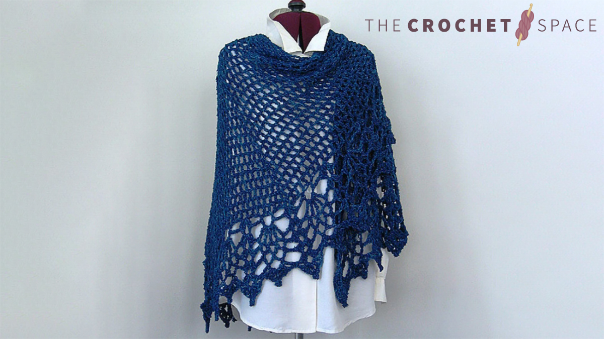 Crocheted All Shawl With Pineapples Free Crochet Pattern The Crochet Space
