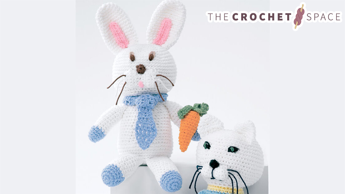 Crocheted Baby Bunny Soft Toy || thecrochetspace.com