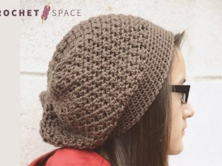 Crocheted Jenny Slouch Hat || thecrochetspace.com