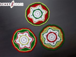Crocheted Party Doily Coasters || thecrochetspace.com
