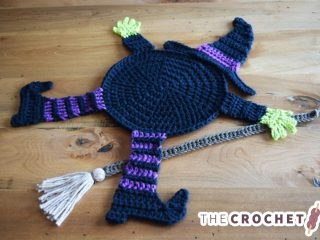 Crocheted Witch Table Coaster    thecrochetspace.com