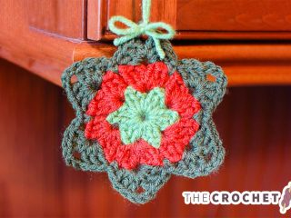 Cute Crocheted Granny Star || thecrochetspace.com