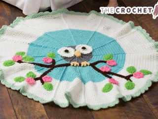 owl crocheted baby blanket    thecrochetspace.com