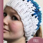 Deep Loop Crochet Hat. View of hat worn to the left || thecrochetspace.com