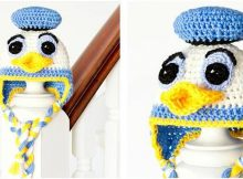 Donald duck inspired crochet baby hat | the crochet space