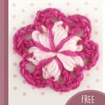 Double Rosella Crochet Flower. One 3D flower in pinks    thecrochetspace.com