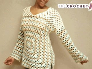 Easiest Granny Crochet Sweater || thecrochetspace.com
