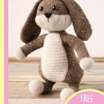 Easter Crochet Big Bunny. one bunny without a jacket on || thecrochetspace.com