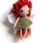 Easy Amigurumi Forrest Fairy. Side view of beautiful fairy || thecrochetspace.com